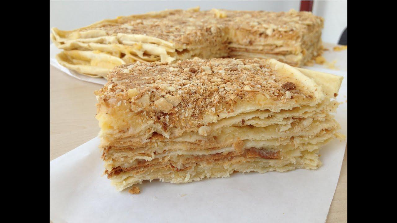 Рецепт торта наполеон с пошаговым приготовлением и фото