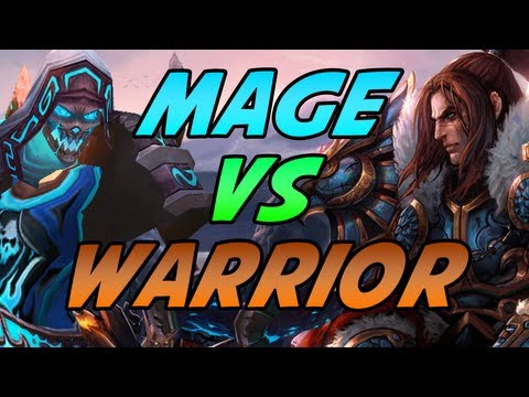 Frost Mage vs Warrior Duels Mists of Pandaria PvP Patch 5.1 Gameplay / Commentary