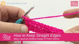 How to Crochet: How to Crochet Straight Edges Tips Double Crochet