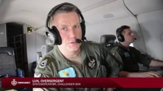 Challengerfly på Frontex-mission