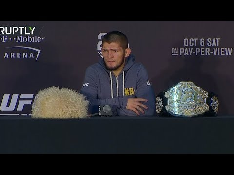 Khabib talks to press after fight with McGregor (FULL VIDEO)