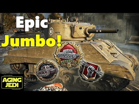Is This the Best M4A3E2 Sherman Jumbo Game Ever? - World of Tanks