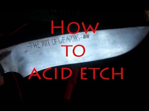 Etch Metal with a Battery! -