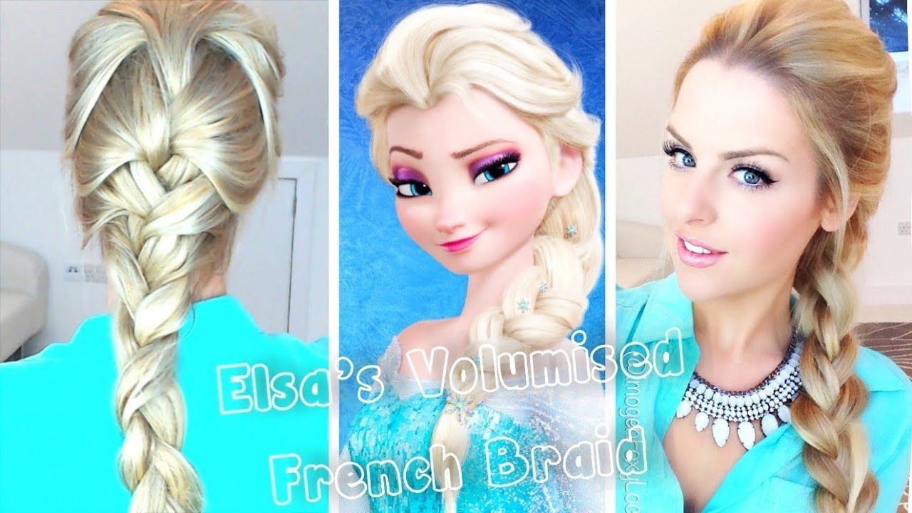 Volumised French Braid Hair Tutorial ~ Frozen Elsa - YouTube