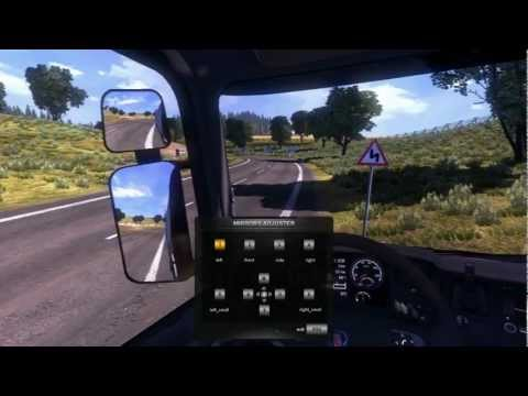 Adjusting mirrors in ETS2
