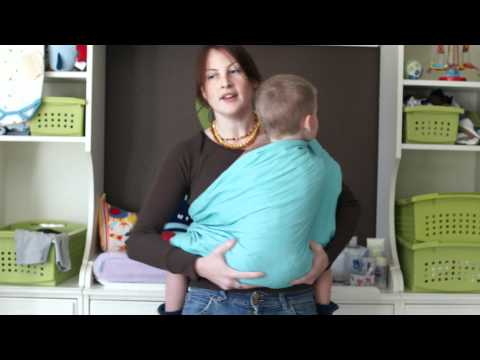 PAXbaby Ring Sling demo with a Toddler!!!