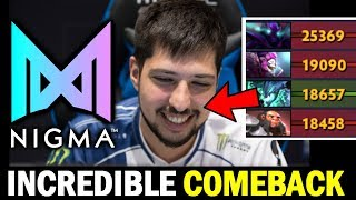8% Incredible COMEBACK — NIGMA vs CL ESL One LA Online Dota 2