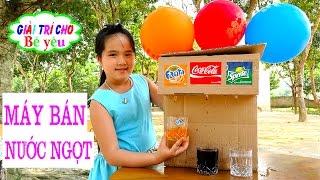 BÉ HUYỀN CHƠI BÁN NƯỚC NGỌT TỰ LÀM - Play sell soft drink do it yourself - Giai tri cho Be yeu