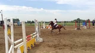 Margaux en SDV Power te HRVV jumping Evergem 80cm