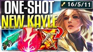 FULL BURST DMG REWORKED KAYLE IS.. BROKEN?? ONE-SHOT BUILD! - Kayle Mid Gameplay - LoL
