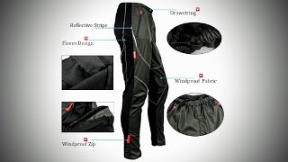 Unbox Santic Cycling Windproof Mens Sports Pants