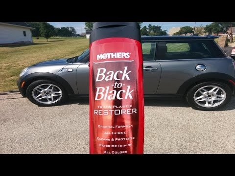How to restore faded car trim meg 39 s ultimate black plastic restorer review how to make do Black interior car trim restorer