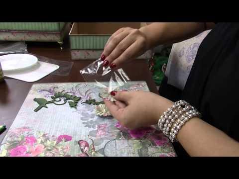 Mulher.com 13/12/2013 Marisa Magalhães - Caixa com decoupage Parte 2/2