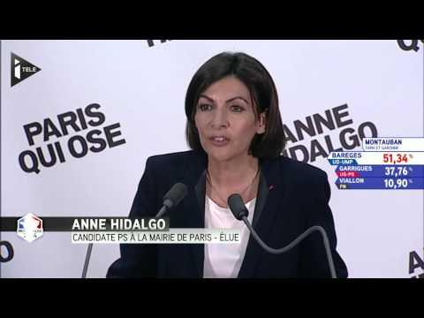 Anne Hidalgo première femme maire de Paris - Le 30032014 à...
