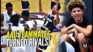 LaMelo Ball Back In Gym w/ Chino Hills!! Watches AAU Teammates Turned RIVALS Big O vs Isaiah Mobley!