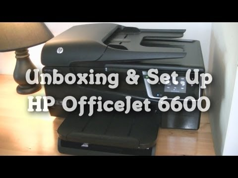Unboxing & Set Up: HP OfficeJet 6600