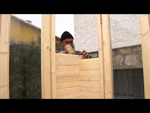 Fabricación de una casa de madera