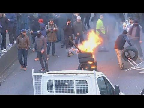 Таксисты во Франции протестуют против Uber (новости)