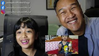 Jenna Norodom and Robin react to cover of Jenna's song Doung Chan by cute child