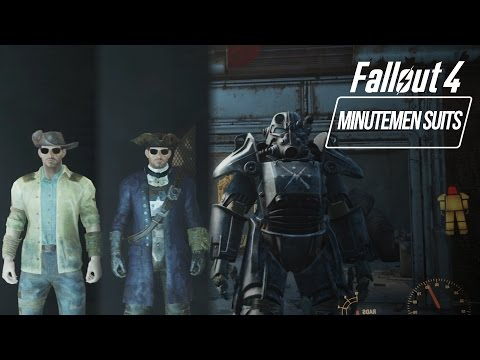 Fallout 4 - Minutemen Outfits/Paint Armor (How to get General's Minutemen Uniform)