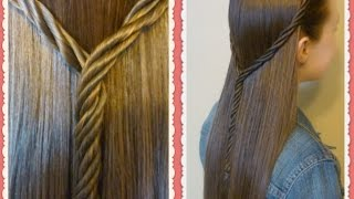 Licorice Braid Tie Back Hairstyle Tutorial