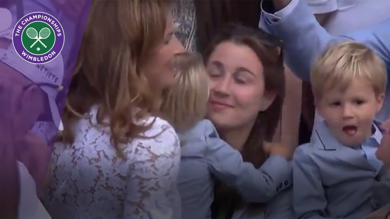 Roger Federer gets emotional as children arrive on Centre Court after Wimbledon 2017 final