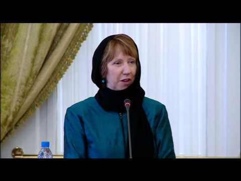 Catherine Ashton in Iran with Foreign Minister