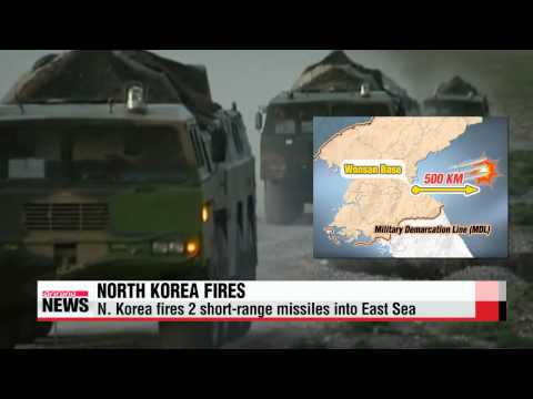 North Korea fires 2 short-range missiles