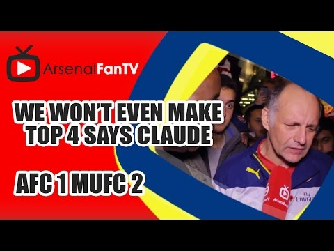 We Wont Even Make Top Four says Claude - Arsenal 1 Man Utd 2 DONATE TO MOVEMBER: http://goo.gl/0qTjli AFTV ONLINE SHOP : http://goo.gl/rin8oW AFTV APP: IPHON...