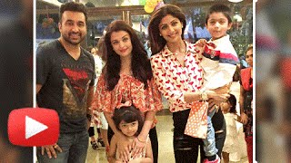 (VIDEO) Aishwarya Rai Bachchan-Aaradhya Bachchan At Shilpa Shetty's Sons Birthday Party!