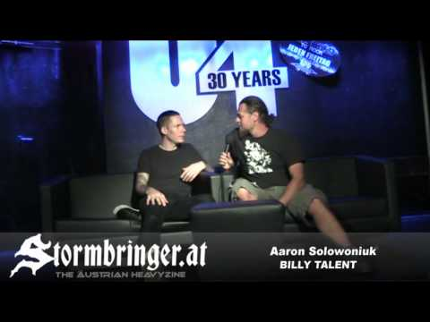 BILLY TALENT - Video Interview with Aaron Solowoniuk