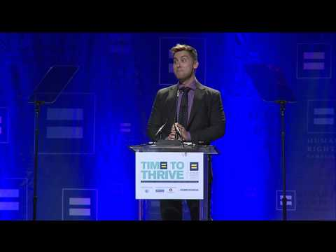 Lance Bass Receives the HRC Upstander Award