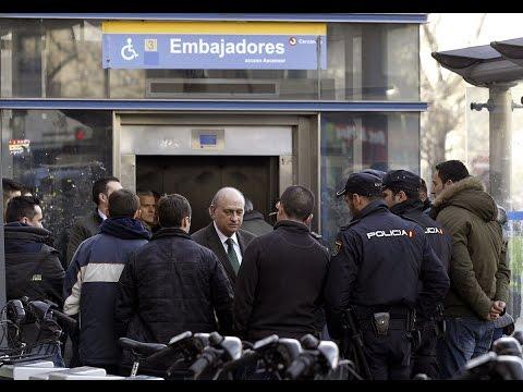 Muere un policía arrollado por un tren en Madrid tras ser empujado por un hombre