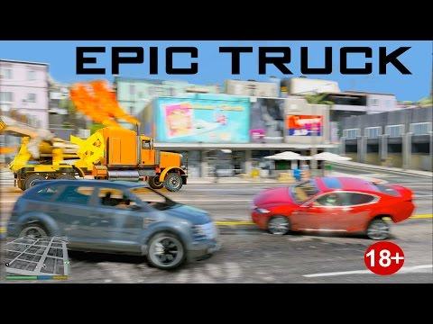 GTA 5 REALISTIC CRASHES DRAG TRUCK DESTRUCTION #1