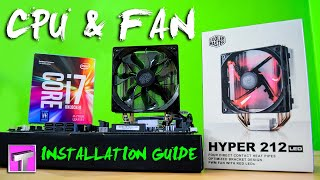 How to Install i7-7700K & Hyper 212 (LED) CPU Cooler on Intel 1151 Socket (7th Gen PC)