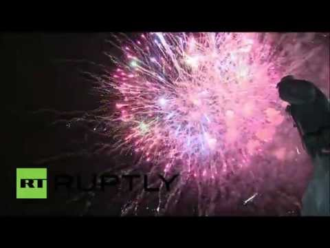 Russia: Crimea celebrates one year reunification with grand fireworks display