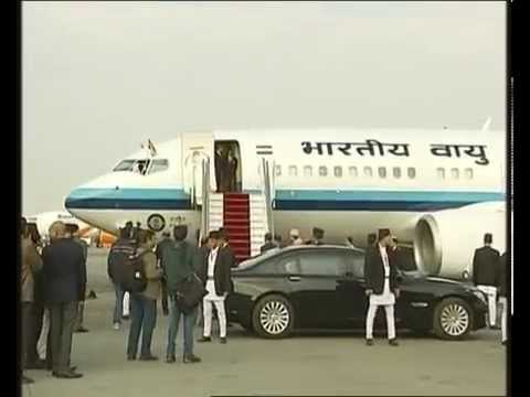 PM NARENDRA MODI arrives in NEPAL for SAARC Summit