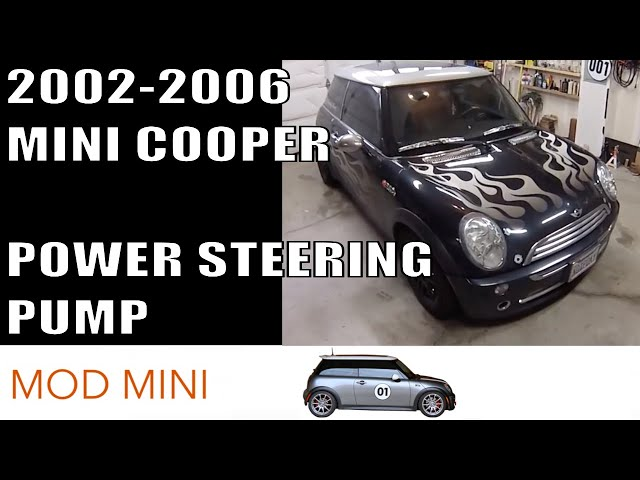 MINI Cooper Replace Power Steering Pump howto - YouTube