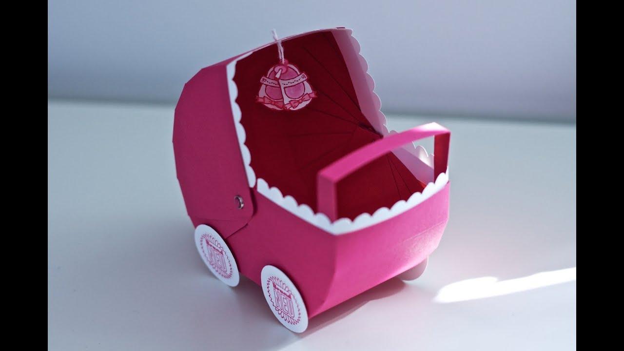 Kreativer Montag 30 Babygeschenk Kinderwagen YouTube