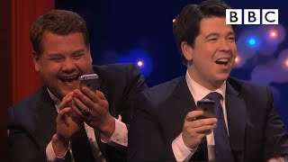 Michael and James Corden play Send to All - The Michael McIntyre Chat Show: Episode 6 - BBC One