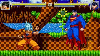 Mugen Son Goku vs Superman