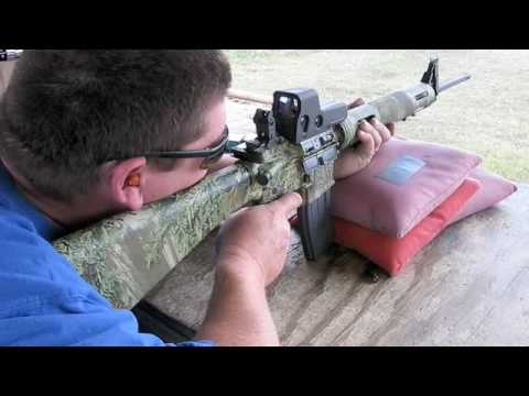 Remington R-15 range shooting