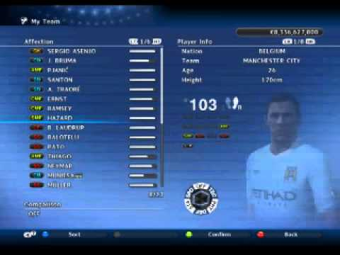Masters 2011 Players Pes 2011 Best Master League