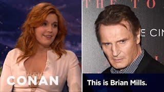 Maggie Grace: Liam Neeson Prank-Called My Ex-Boyfriend  - CONAN on TBS