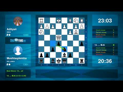 Chess Game Analysis: Aditya4 Mushtaqdemha : 01 (By ChessFriends.com)