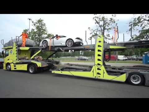 Transport Samochodów Z Francji Dream VAN. Porte-voitures / Car-carriers LOHR Mercedes Benz