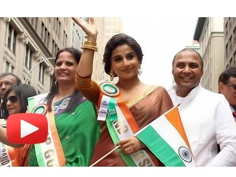 Vidya Balan Leads India Independence Day Parade In Us video