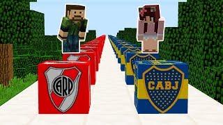 ¡¡ LUCKY BLOCKS RIVER PLATE VS BOCA JUNIORS !! | Minecraft River vs Boca