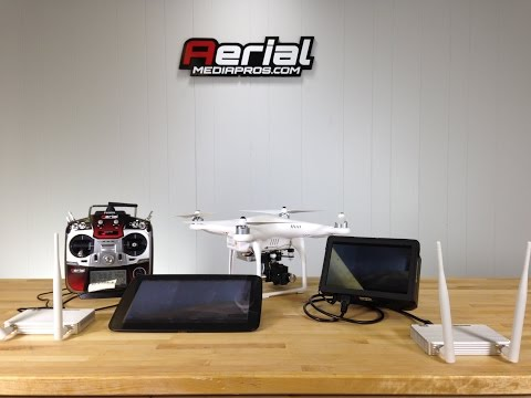 DJI Phantom 2 Live HD Broadcasting on Dual Lightbridge from Aerial Media Pros