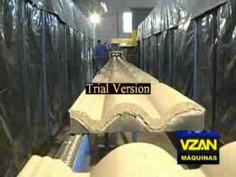 Forma de telha de cimento